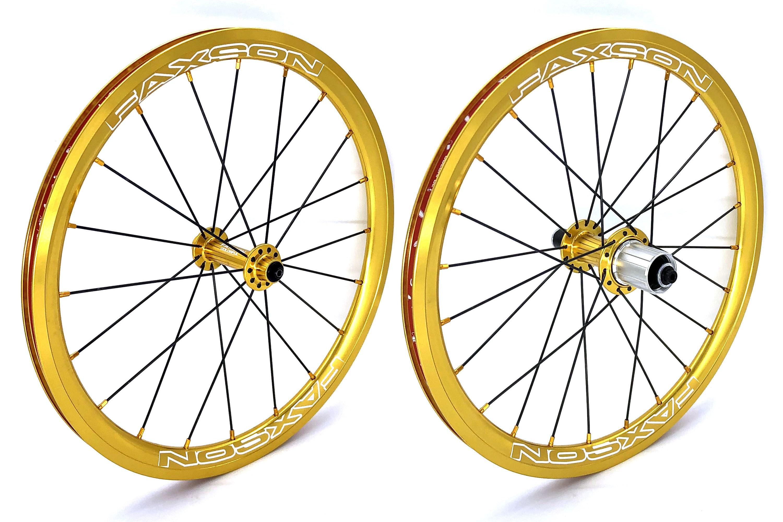 """406 - 20/"""" 355 Birdy Faxson Colorful Wheelset // 18/"""" Rim Brake"""