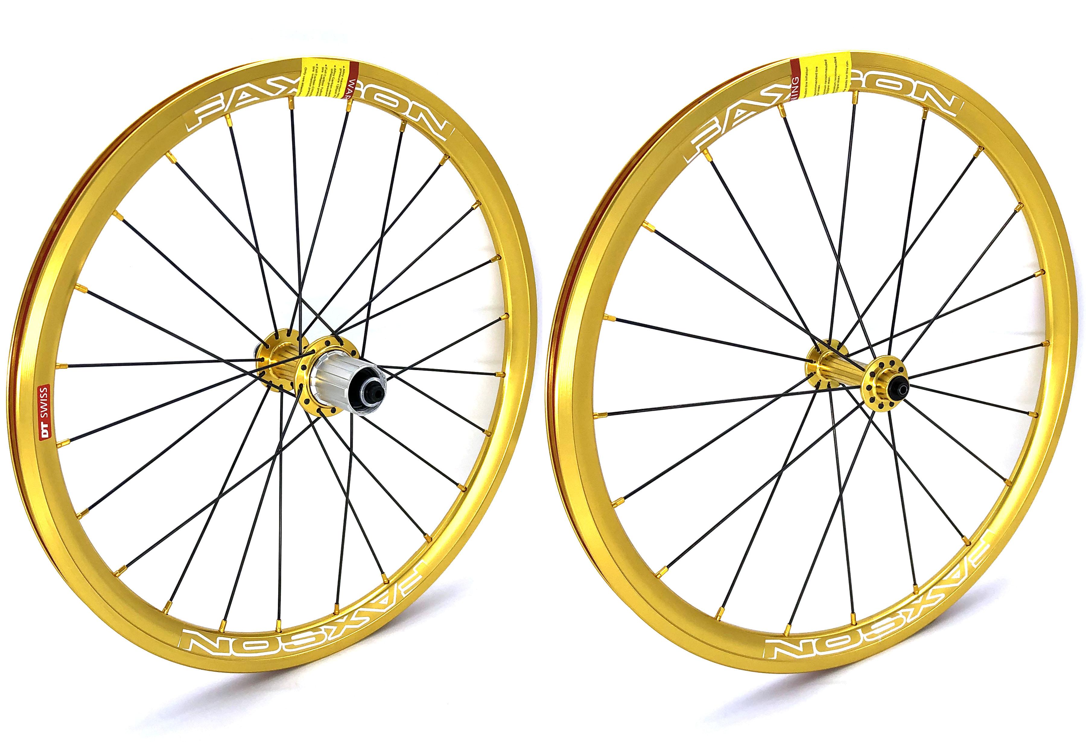 """- 20/"""" 355 Birdy 406 // 18/"""" Faxson Colorful Wheelset Rim Brake"""